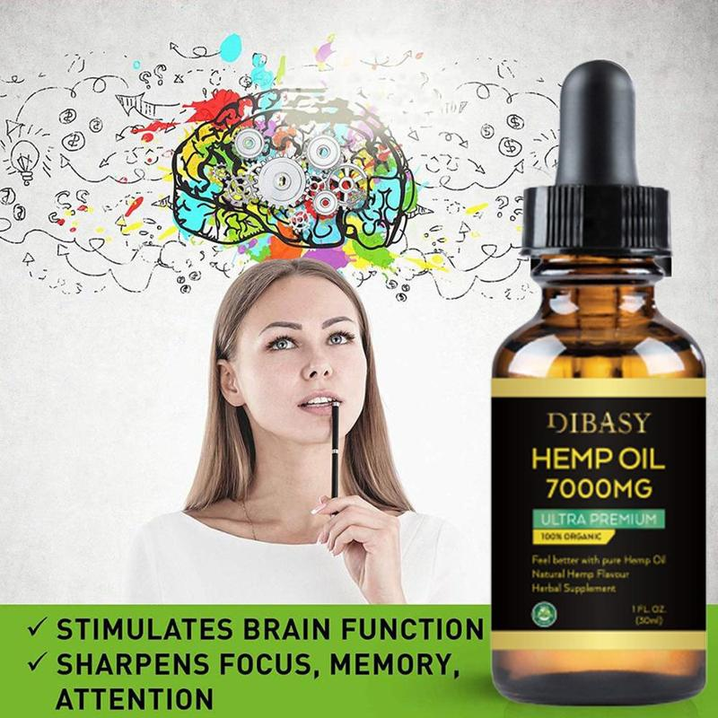 Essential Oils 7000mg Cbd Oil Organic Hemp Seed Extract Hemp Seed Oil Bio-active Drop For Pain Relief Reduce Sleep Anxiety