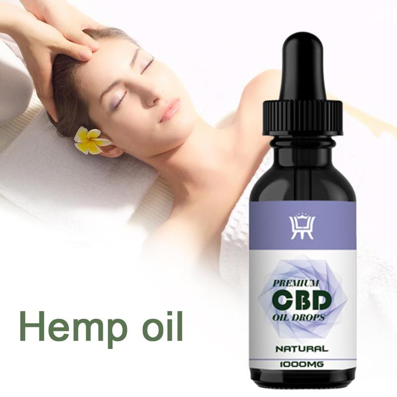 Premiun CBD Essential Oils Organic Hemp Seed Oil Herbal Drops Body Stress Relieve Oil Skin Body Care Pain Relief Anti Anxiety